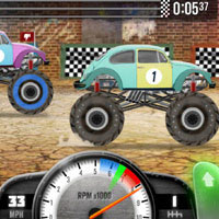 Play Racing Monster Trucks on mobile